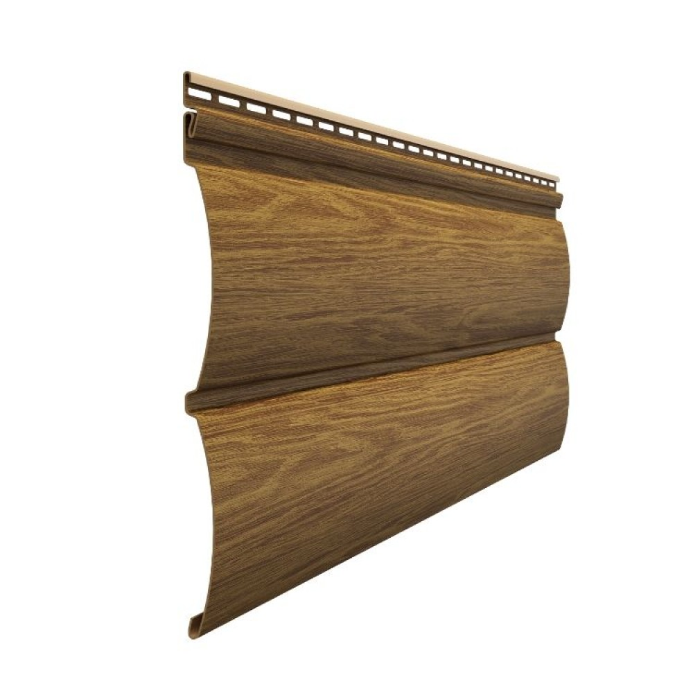 Docke LUX Сайдинг D4.7T Блокхаус МИНДАЛЬ 3600х243х1.2мм 0.87м2